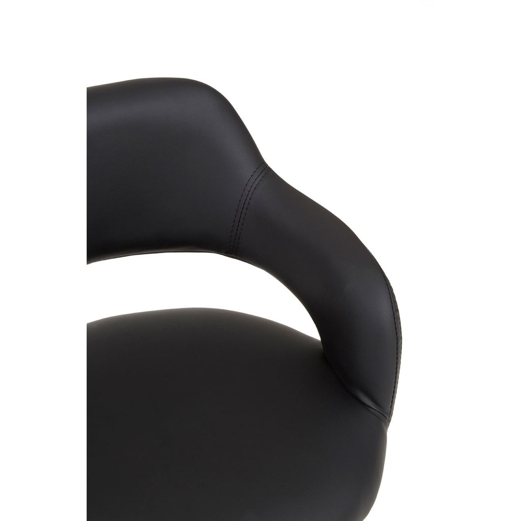 Black Curved Back Office Chair