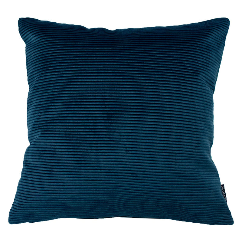 Teal Rippled Cushion Cover