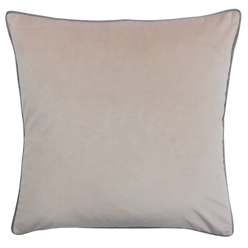 Blush Cushion Cover with Grey Piping