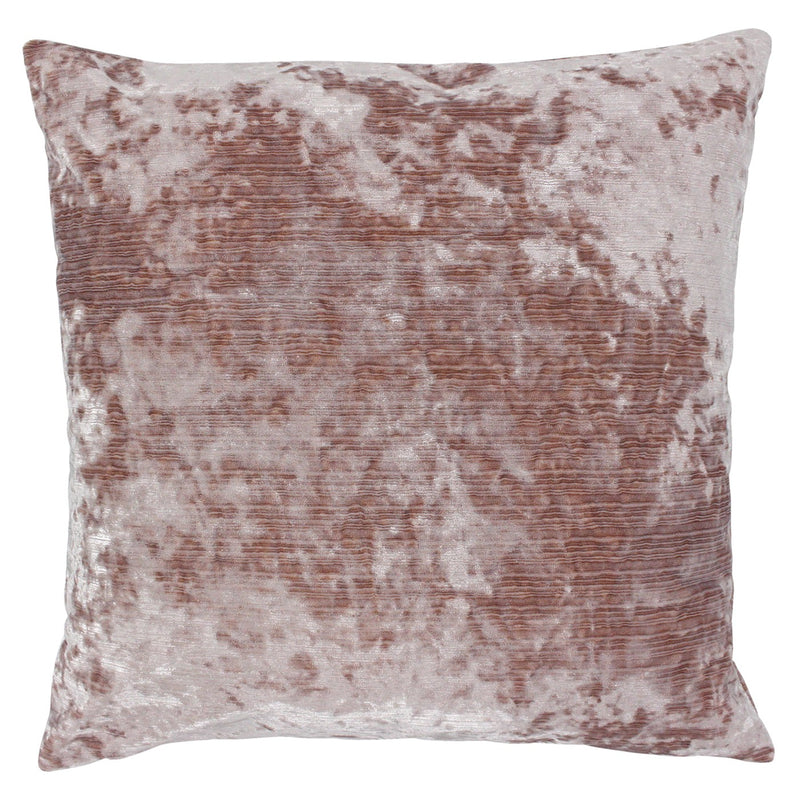 Blush Crushed Velvet Cushion Cover