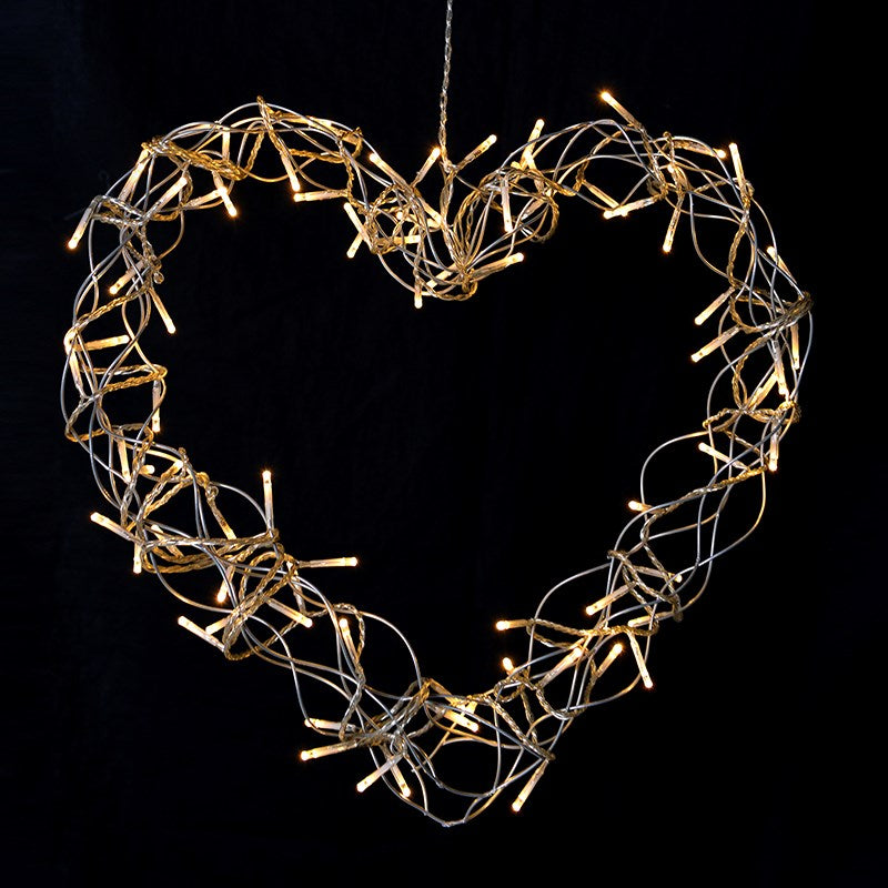 Heart Wreath With LED's