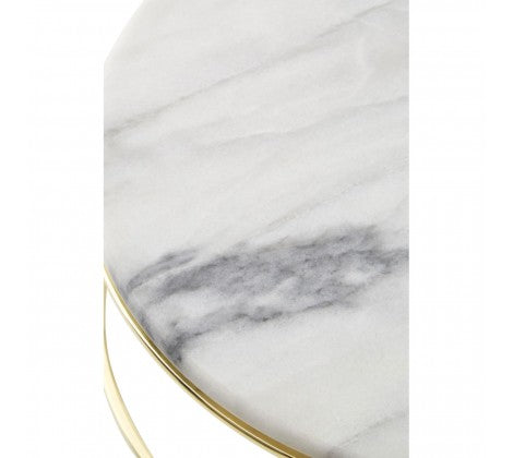 White Marble And Brass Cake Stands