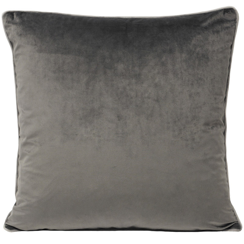 Charcoal Cushion Cover with Dove Piping