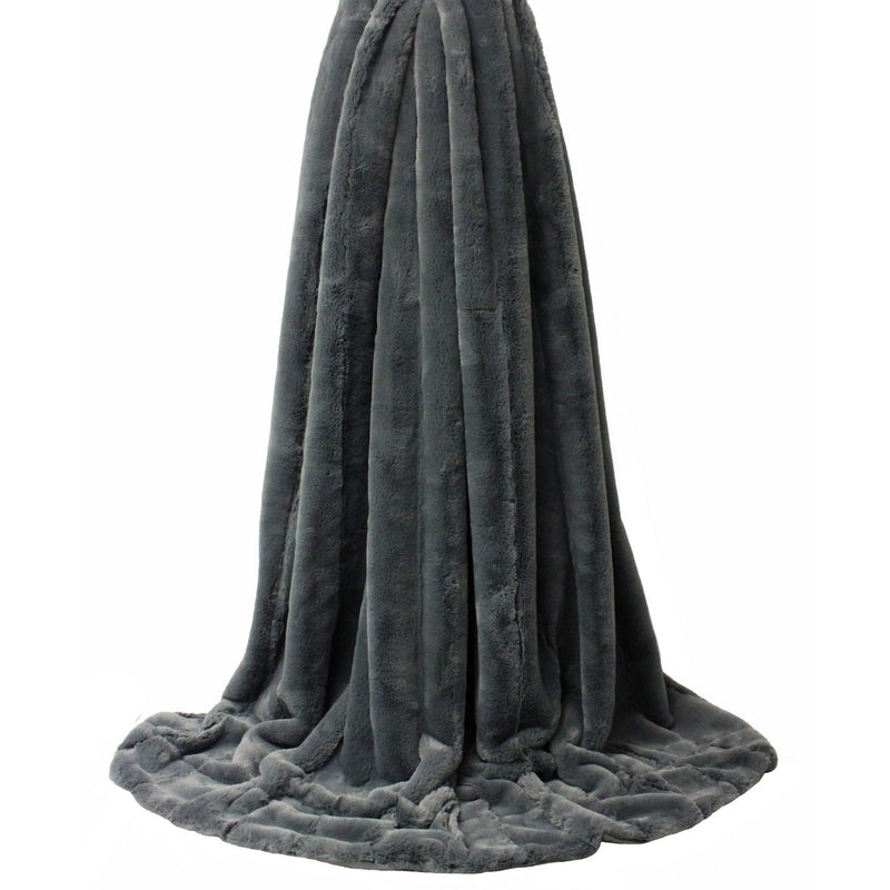 Plush Charcoal Throw