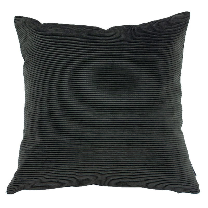 Charcoal Rippled Cushion Cover