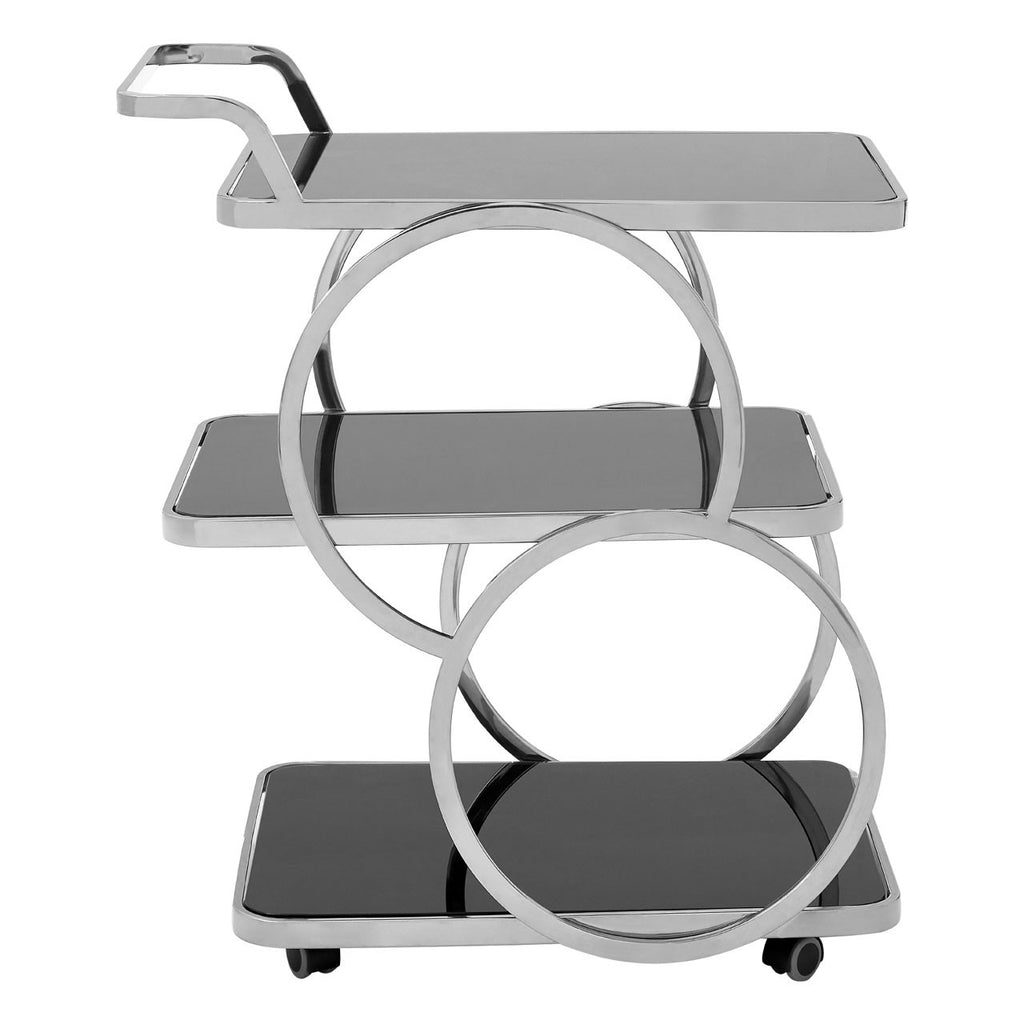 Circles Silver Drinks Trolley