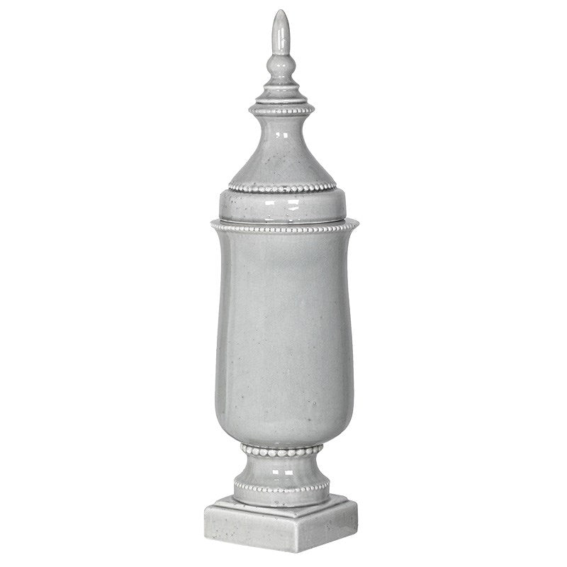 Tall Slender Urn With Lid