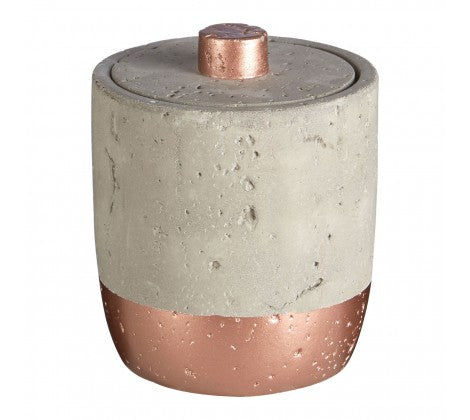 Concrete Copper Cotton Jar