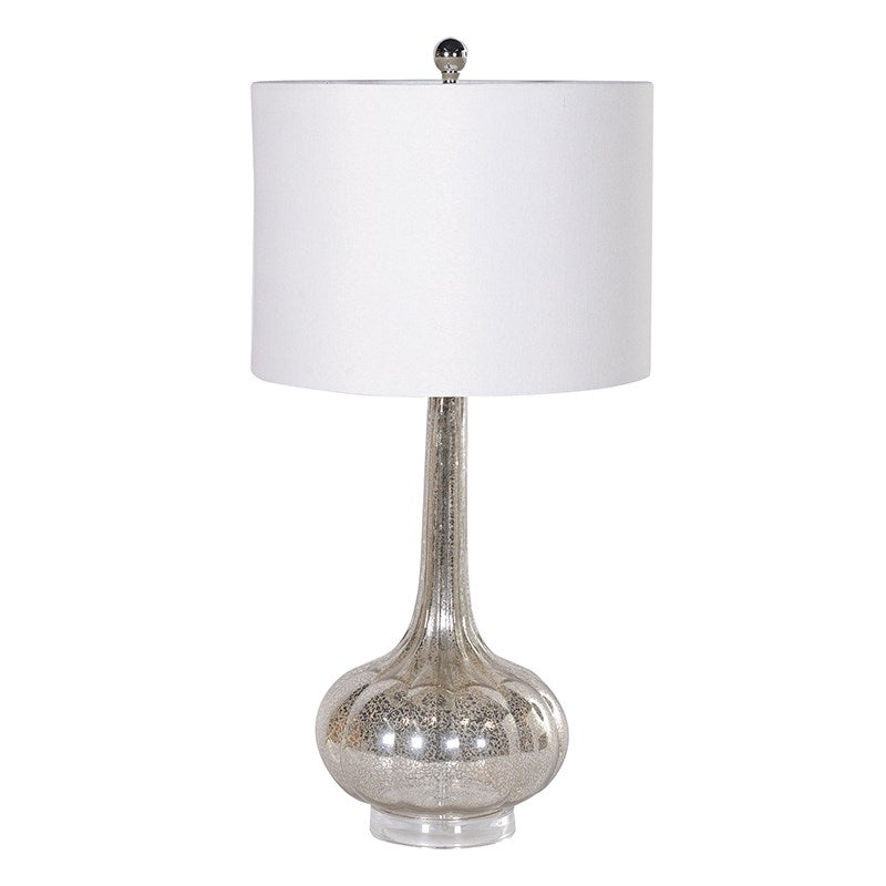 Silver Shattered Effect Table Lamp