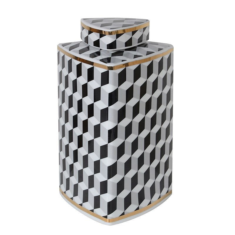 Optical Art Monochrome Jar