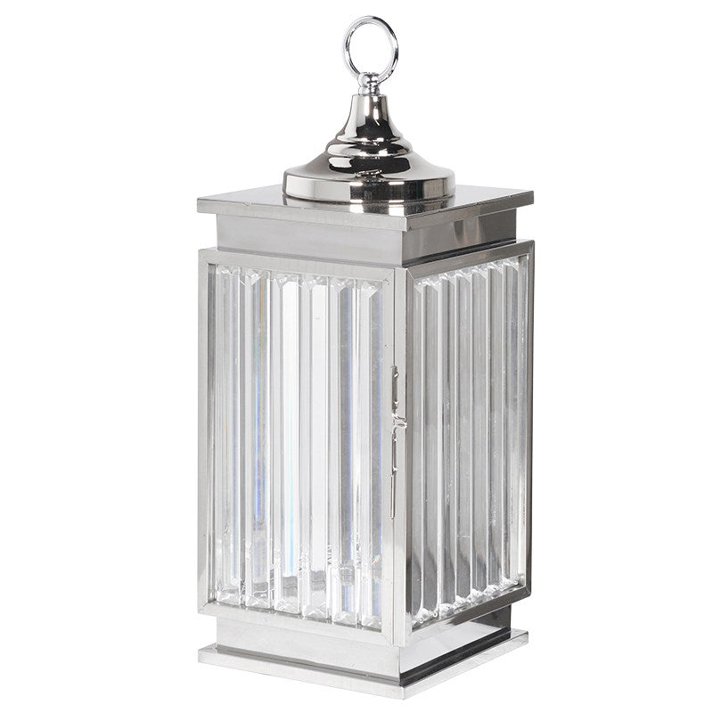 Small Chrome Crystal Lantern