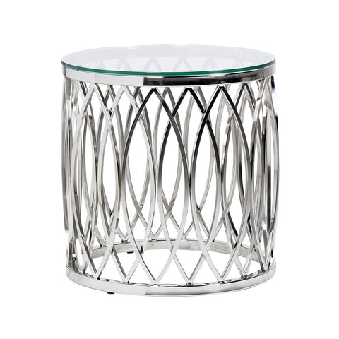 Apri Silver Side Table