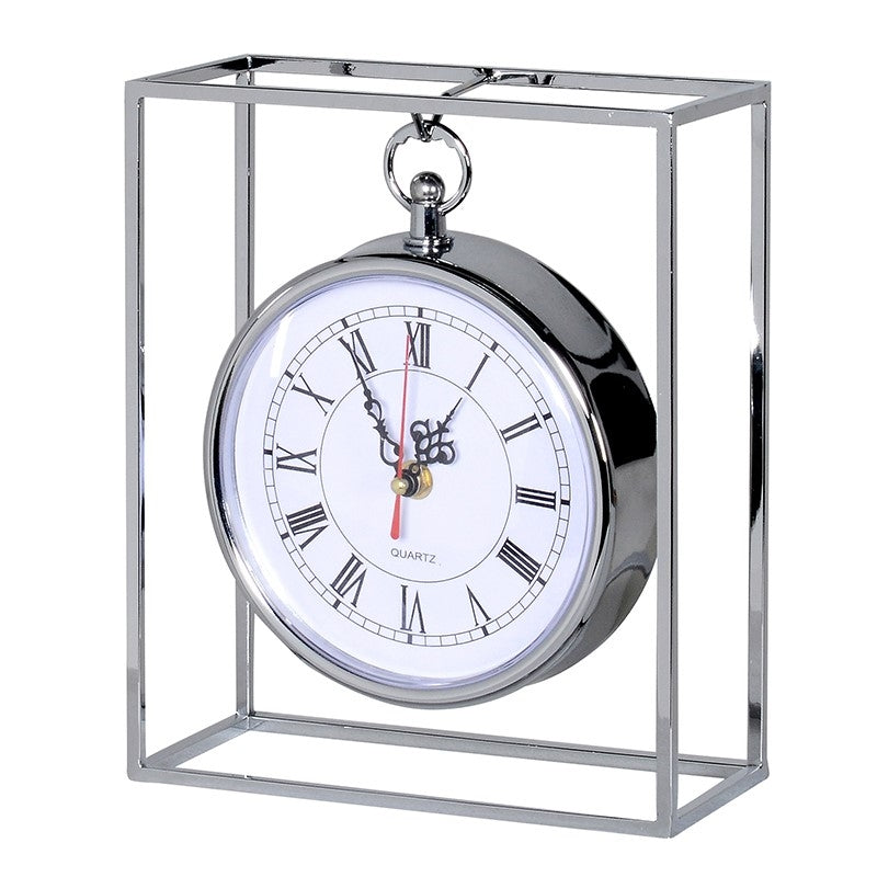 Stainless Steel Clock In Frame