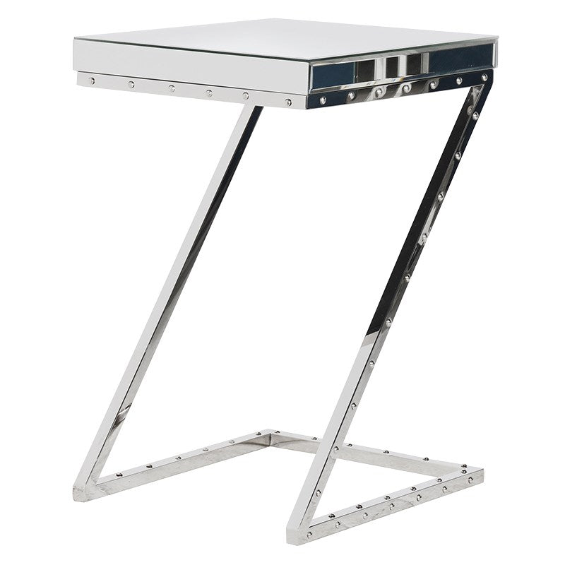 Chrome Z Legs Side Table