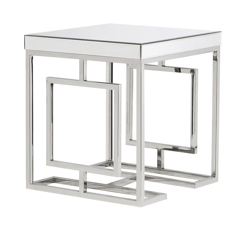 Azalea Chrome Mirrored Side Table