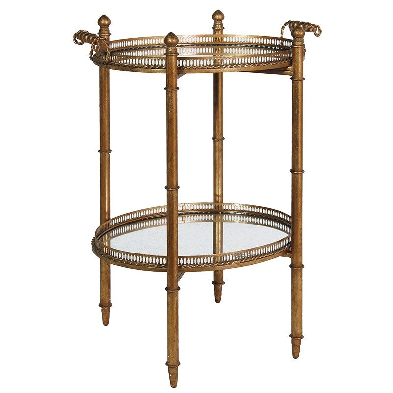Gilt Mirrored Drinks Stand