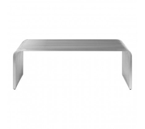 Silver Mirrored Console Table