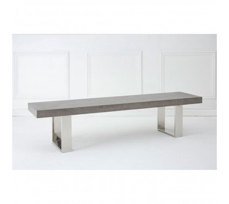 Grey Elm Wooden Bench