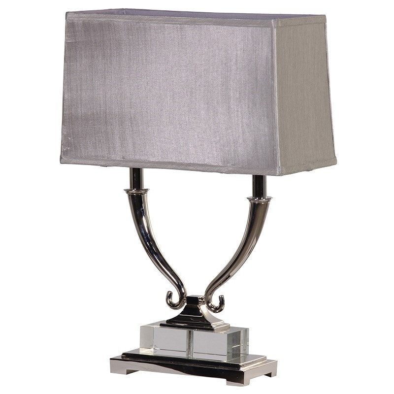 Silver Finish Twin Arm Lamp