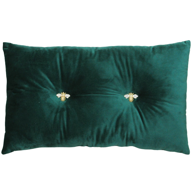 Emerald Bumble Bee Cushion