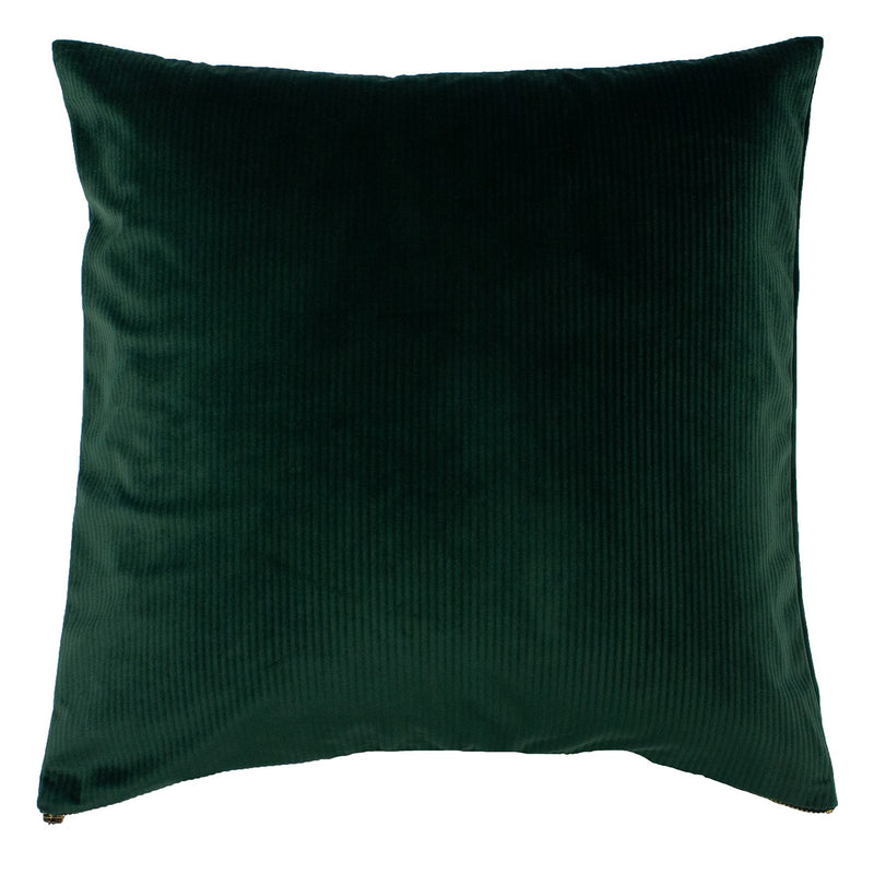 Emerald Ribbed Cushion Cover