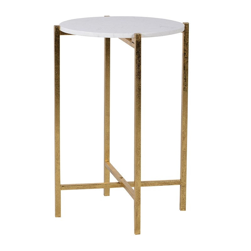 Marble Top Gold Side Table