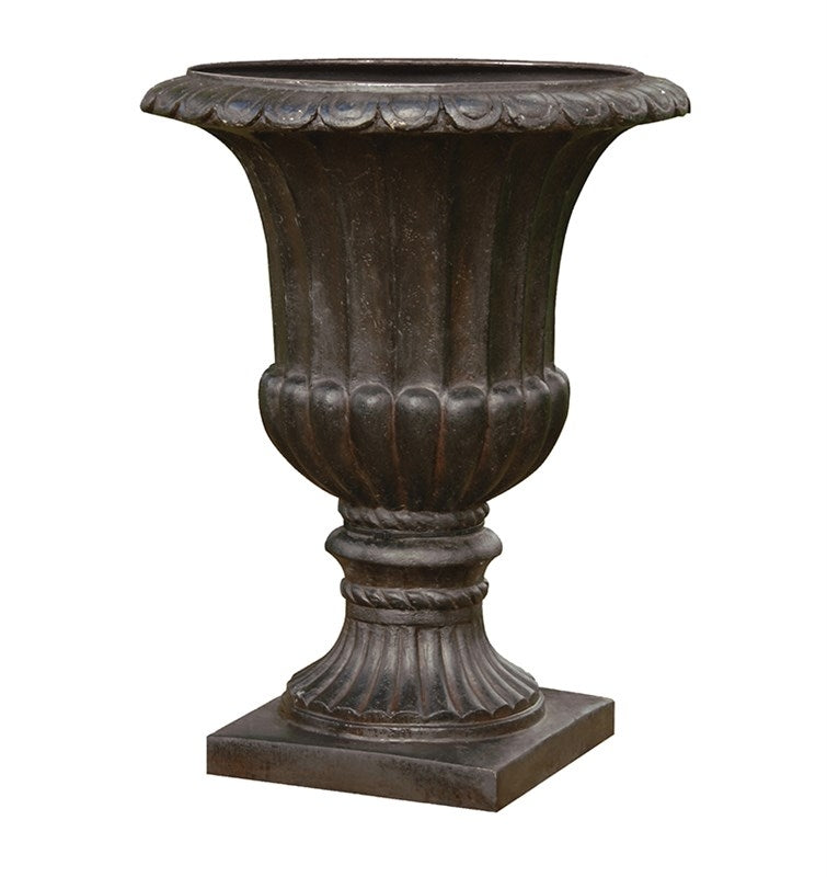 Large Iron Effect Garden Urn