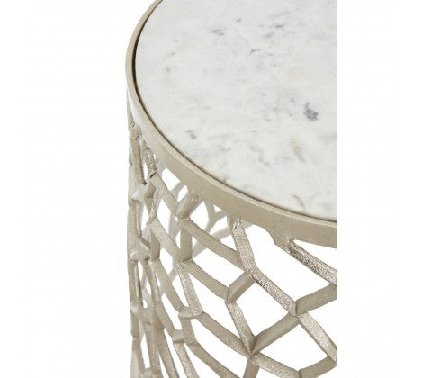 Silver Fragmented Side Tables