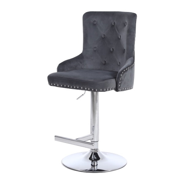 Leo Dark Grey Bar Stool