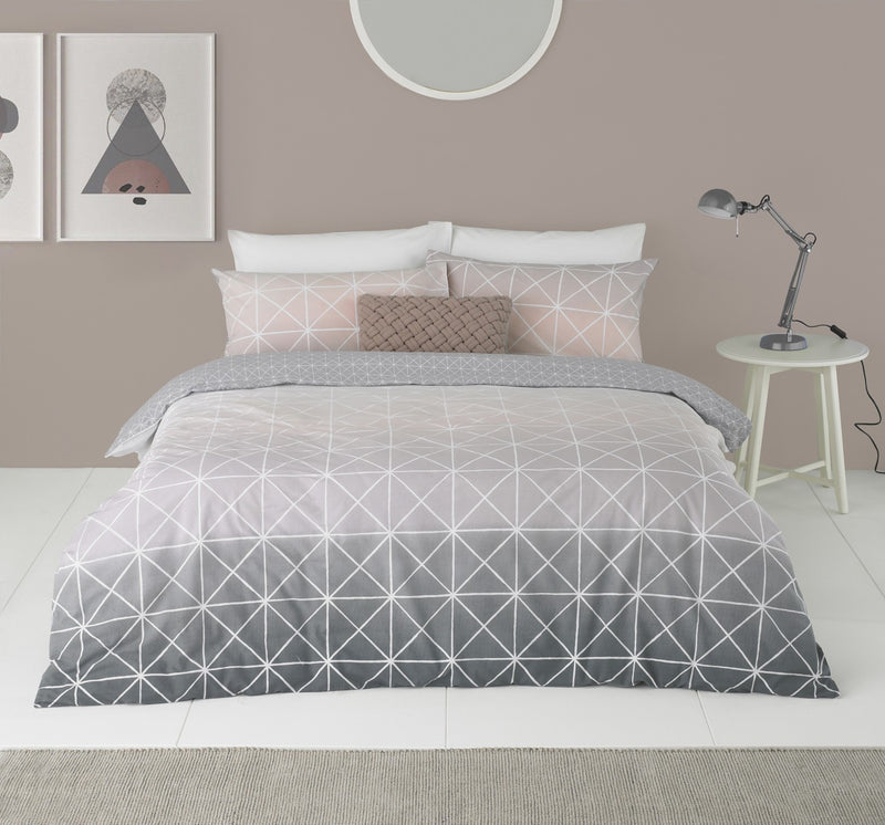 Geo Ombre Grey Duvet Set