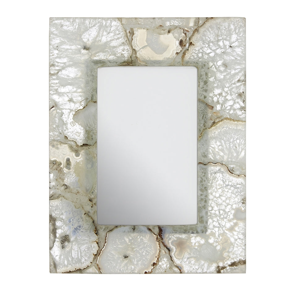 Small White Agate Photo Frame