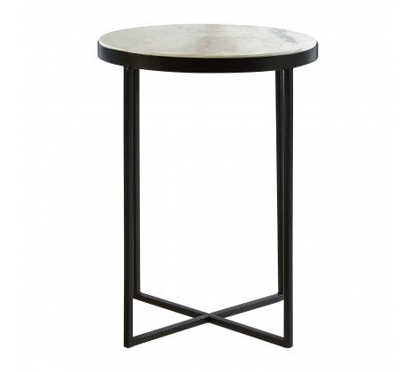 White and Gold Pedestal Table