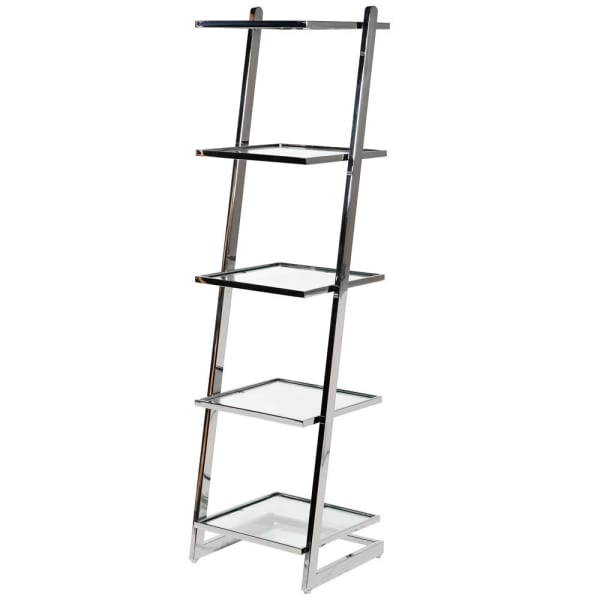 Glass and Steel Shelving Unit