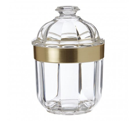 Small Gold Acrylic Canister
