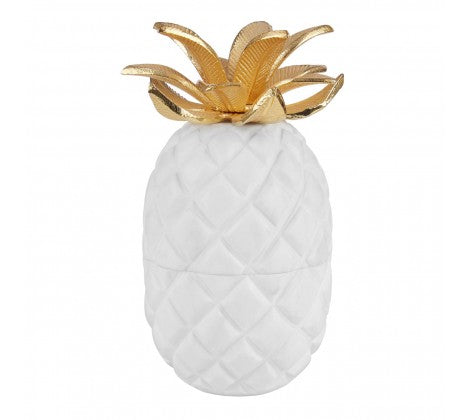Gold Marble Pineapple Jar