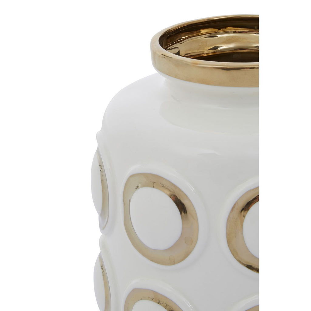 Gold Rings Ceramic Vase