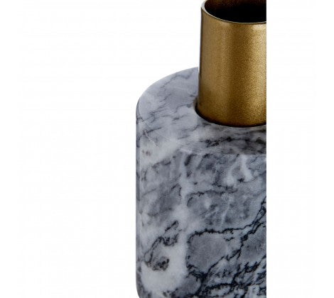 Grey and Gold Marble Candle Holder
