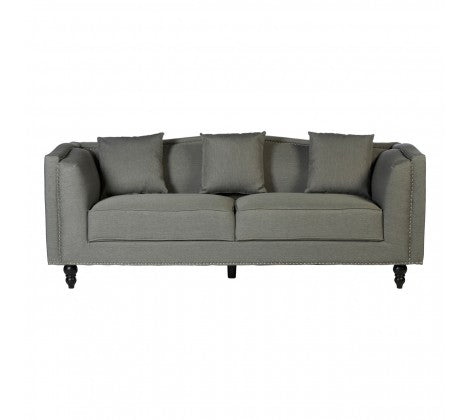 Grey and Silver 3 Seater Sofa
