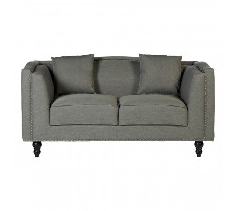 Grey and Silver 2 Seater Sofa