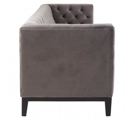 Grey Button Back Sofa