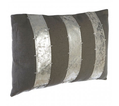 Crushed Silver Effect Cushion