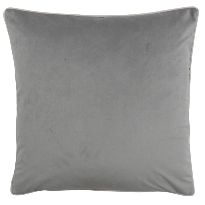 Grey Cushion Cover with Blush Piping