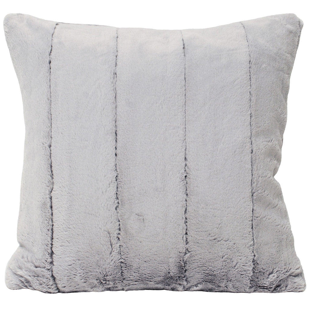 Grey Plush Cushion Cover