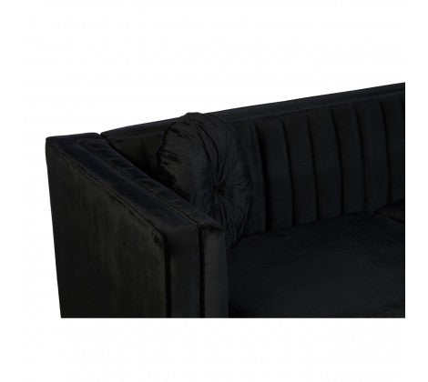 Hadley Black 3 Seater Sofa