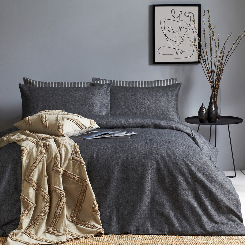 Charcoal Heathered Duvet Set
