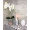 Large Grey Marble Candle Holder