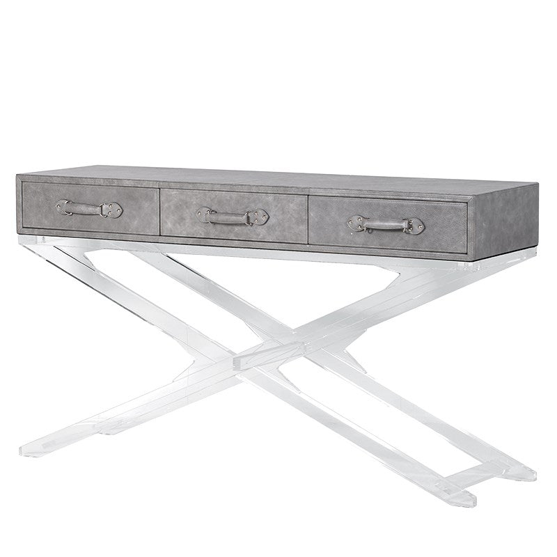 Zaira Acrylic X Leg Console Table