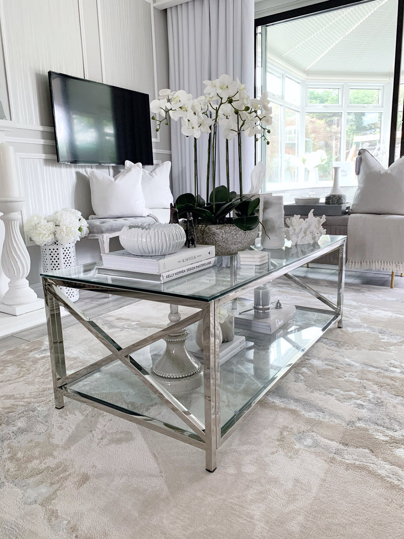 Petite Glass Coffee Table