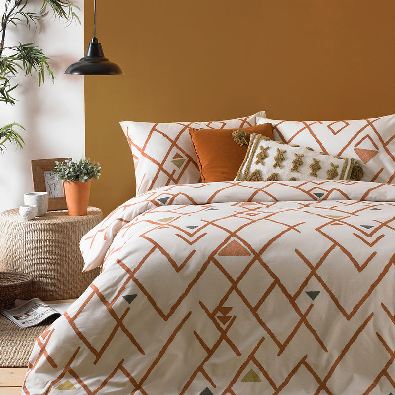Abstract Brick Duvet Set