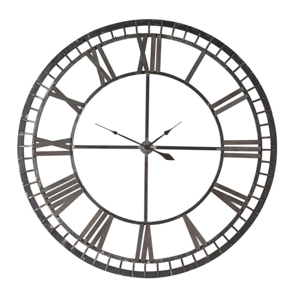 Iron Numerals Wall Clock